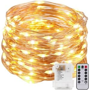 34ft Copper Wire String Lights